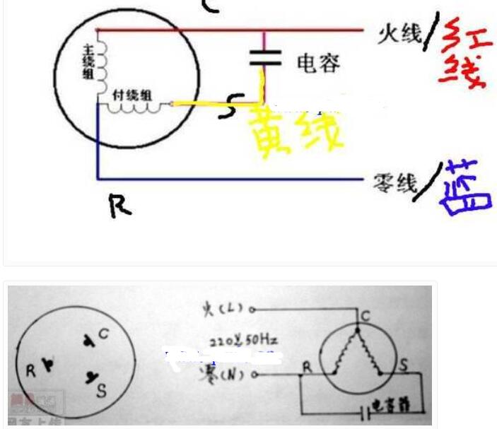 空调压缩机电容的接线方法