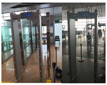 海康威视推出的测温安检门已正式在首都国际机场上岗