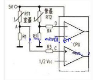 空调温度传感器的代换电路