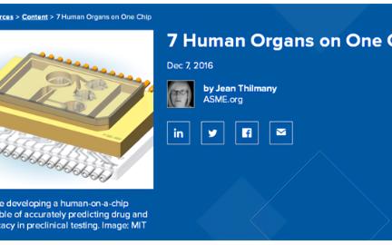 芯片上的器官模型 有专门的微流控平台