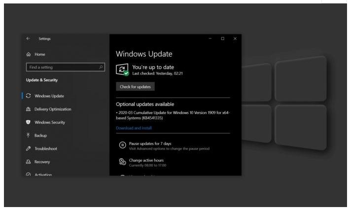 微软Win10 KB4541335补丁部分用户无法安装