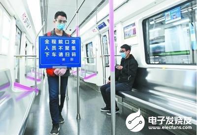 武汉地铁恢复运营后采用红外线测体温