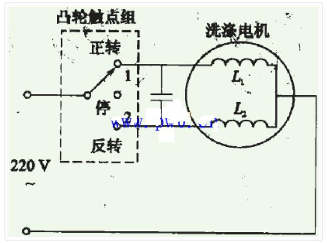 洗涤电机的控制原理图