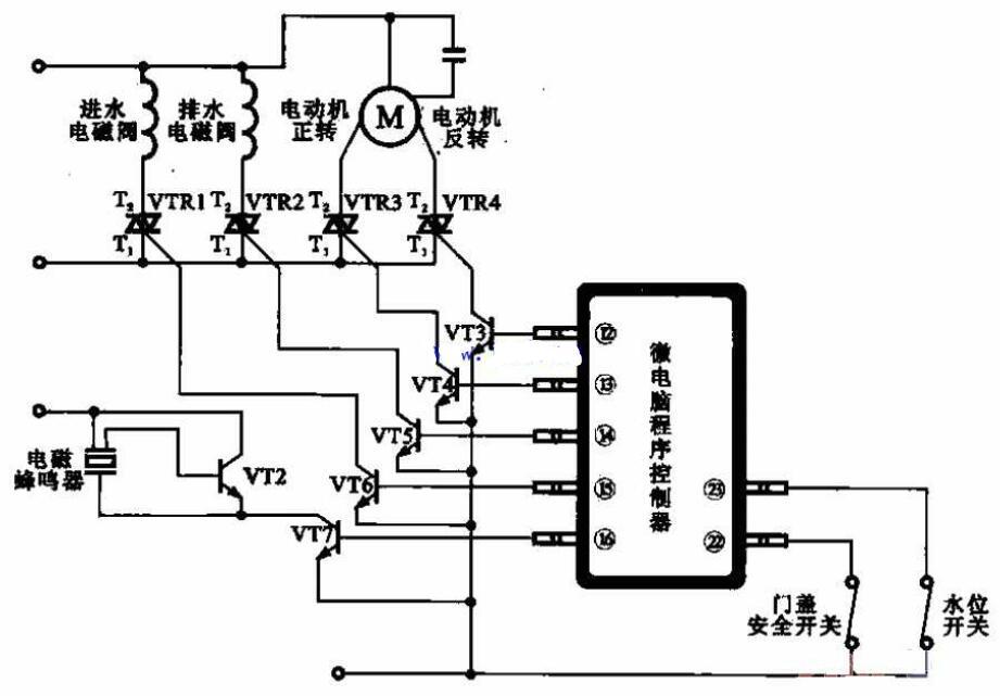 全自动洗衣机电动机驱动电路原理