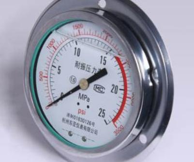 耐震壓力表的原理及結構