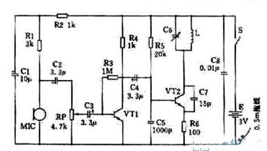 消除聲反饋的無線話筒電路圖解析