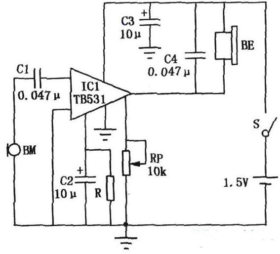 基于TB531制作的助聽器電路圖解析