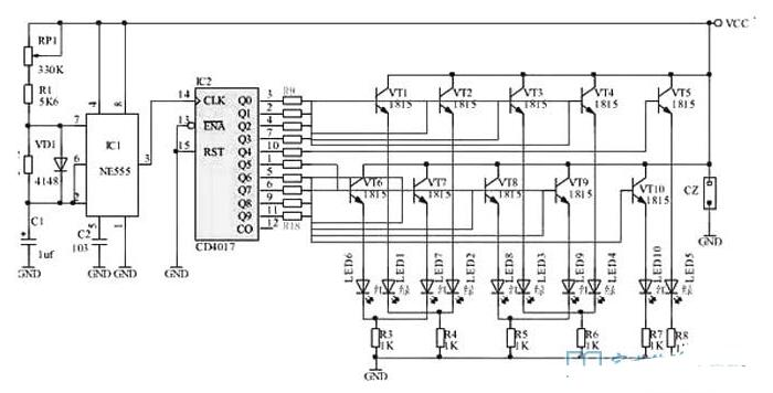 雙色發光二極管的應用電路