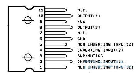 TDA7263A引腳圖_TDA7263A典型應用電路