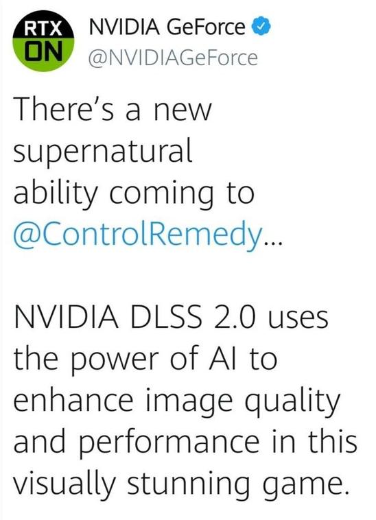 英偉達(da)將發(fa)布DLSS 2.0技(ji)術來來增(zeng)強游戲的圖像(xiang)和性能(neng)