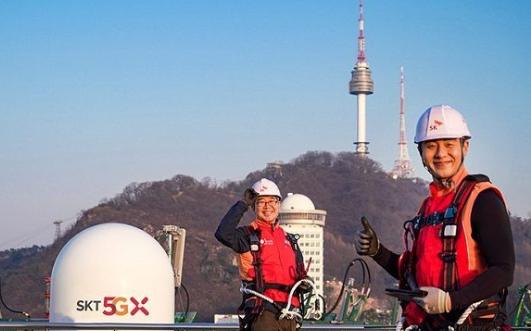韩国SKT 5G商业服务推出一周年 5G数据月消...