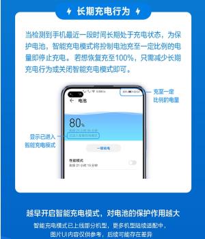 华为手机上线智能充电模式,避免过早老化有效延长电池寿命