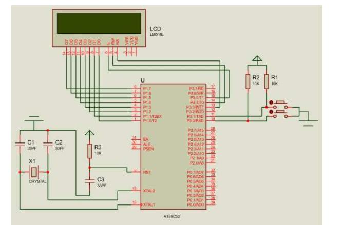使用单片机实现4按键密码锁加LCD的仿真电路图免费下载