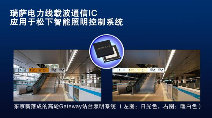 瑞(rui)薩(sa)電力線(xian)載波通信IC應用于(yu)松下智能照明控制系統
