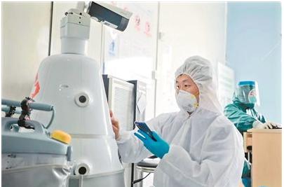湖南大学研制出了新冠肺炎疫情防疫机器人