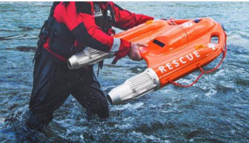 云洲智能科技公司研发出的海豚1号水面救生机器人已...