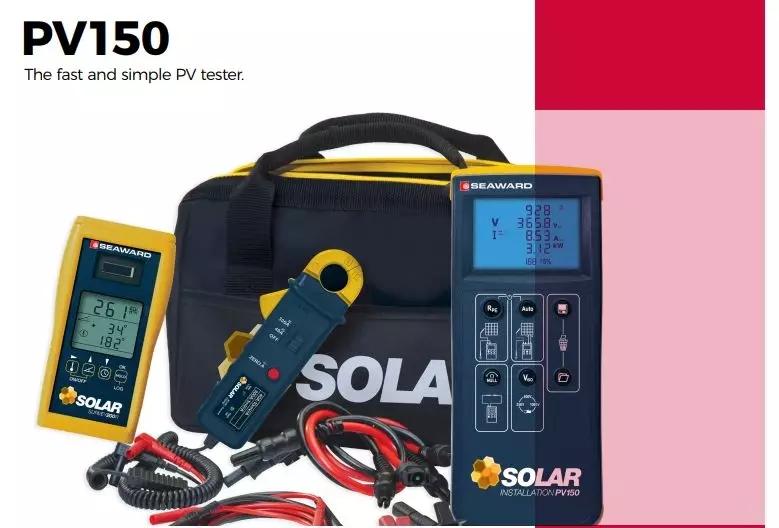 满足大型太阳能发电厂的测试需求:手持式太阳能光伏测试仪PV150