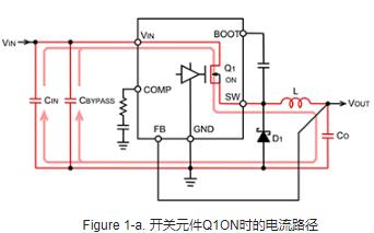 淺談降壓型轉換器工作時的電流路徑