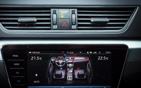 斯柯达自动空调空气护理系统保证车内的空气清洁