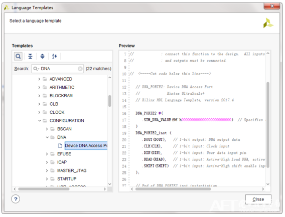 Xilinx-FPGA的DNA的讀(du)取方法