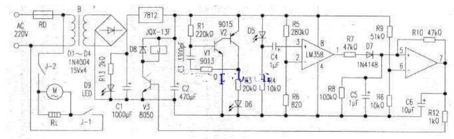 红外自动干手器电路图原理
