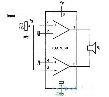 TDA7050典型应用电路图