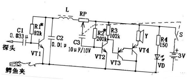 笔式电路故障寻迹器电路图解析