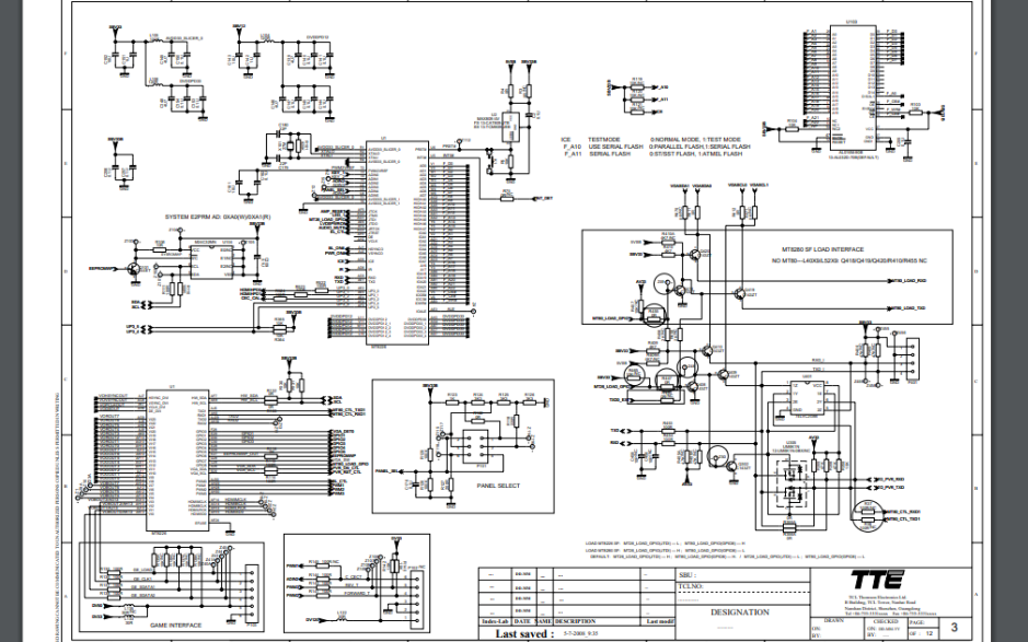 TCL L42M71D液晶电视MS68B机芯主板的电路原理图免费下载
