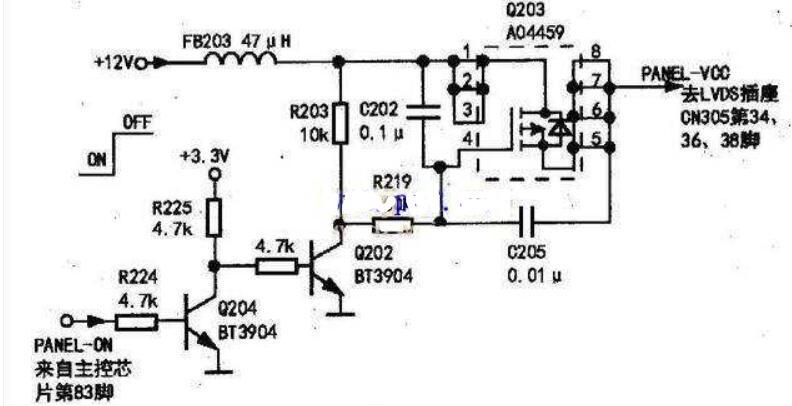 TCL液晶彩電維修電路