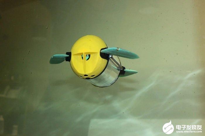 國外研究團隊打造出類似海龜的水下遙控機器人 可對水產品展開定期檢查