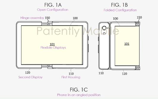 谷歌可折叠电子设备最新专利曝光