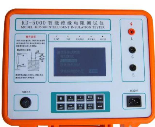 智能(neng)雙顯絕(jue)緣電阻測試儀的(de)特點