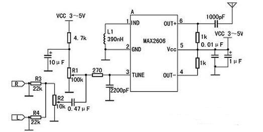 三款MAX2606发射电路图解析