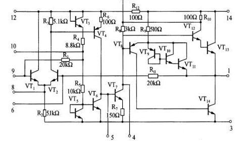 LA4102内部电路图_LA4102典型应用电路