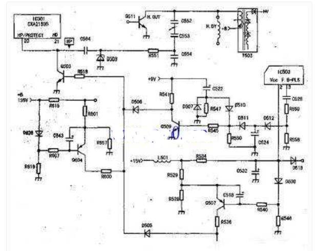 索尼电视扫描保护电路原理图