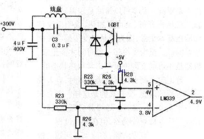 美的电磁炉放电后不加热检修电路
