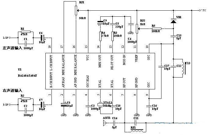 兩款BA1404典型應用電路詳解