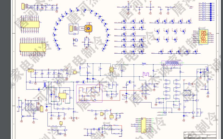 九阳电磁炉的电路原理图免费下载