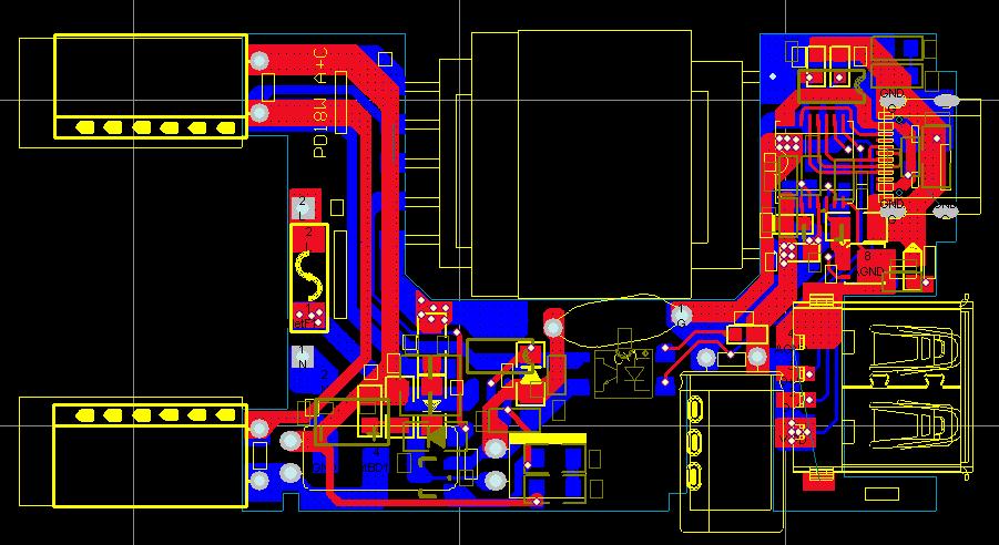 PD18W電源快充方案CX7509+CX7538