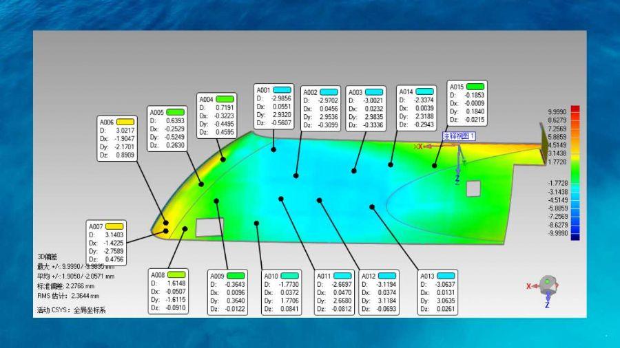 3D激光扫描仪大型风电模具玻璃钢制品以及大型结构件扫描对比检测