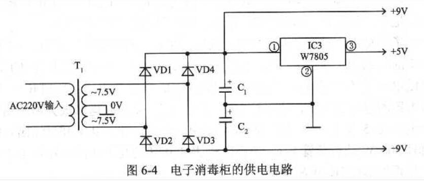 电子消毒柜典型应用电路