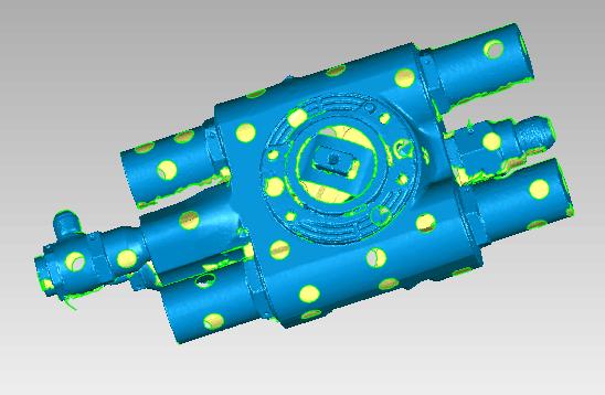 手持式三维激光扫描仪逆向设计机械结构件产品的逆向...
