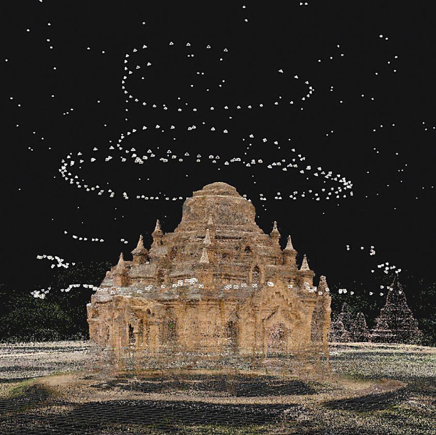 大空间激光扫描测绘古建筑寺庙宫殿文物数字化3D扫...