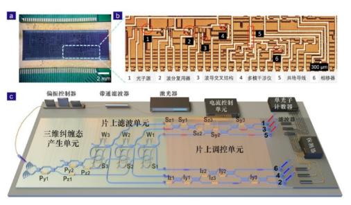在硅基集成光量子芯片上实现高维量子纠缠,干涉可见...
