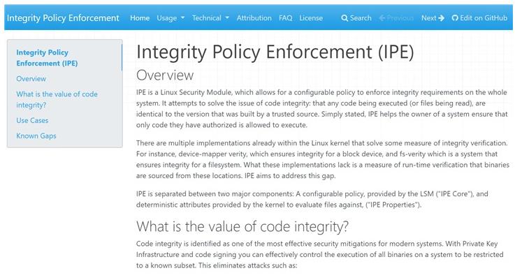 微软为解决Linux代码完整性问题推出IPE