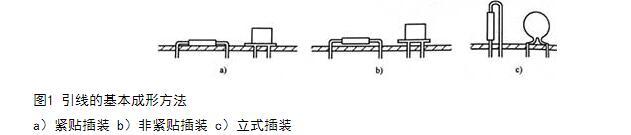 插装元器件的原则_电子元器件插装方法