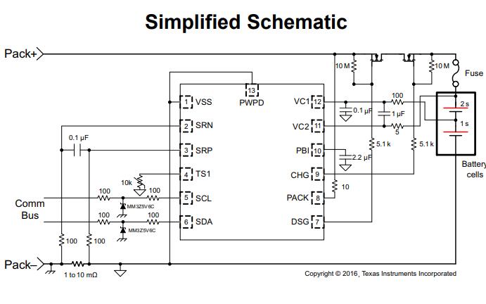 BQ28Z610系列锂离子电池组气体表及保护方案芯片的数据手册免费下载