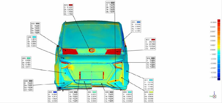 汽车油泥对比检测高铁车头手持式3D激光扫描仪大型...