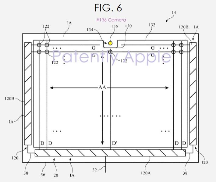 苹果为iPad设置具有横向前摄模组的专利?