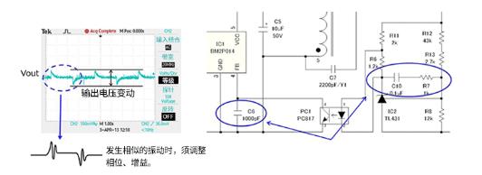关于绝缘型反激式转换器输出瞬态响应和输出电压上升波形